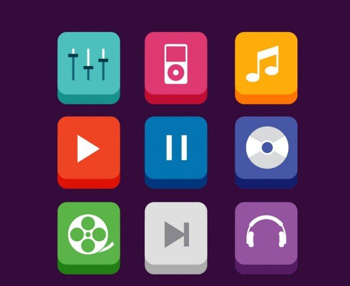 music-app-icons