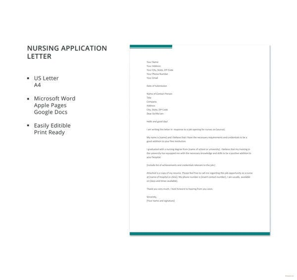 nursing-application-letter-template