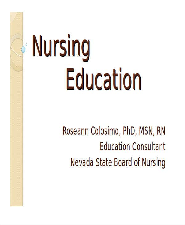 nursing education powerpoint