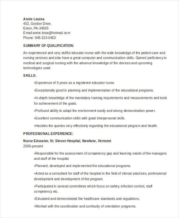 nursing teacher resume - Clinical Instructor Resume