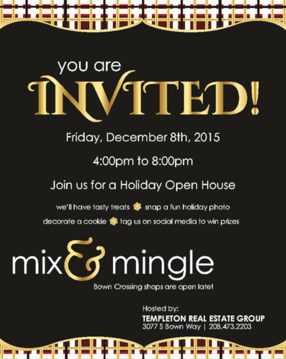 open house holiday invitation