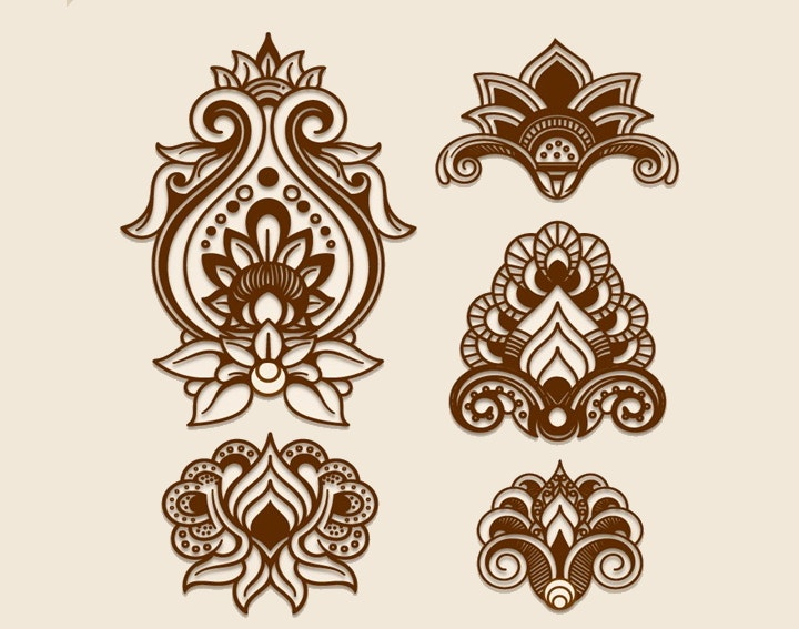 40 Symmetrical Design Patterns Vector EPS Format Free Premium Impressive Papercut Patterns