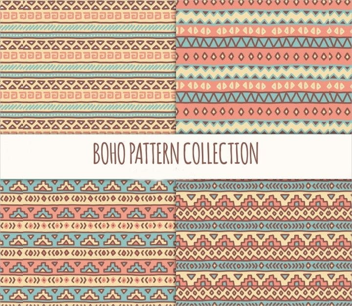pastel color boho pattern1