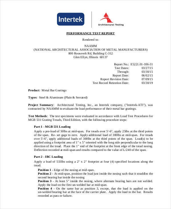 performance report templates 9 free word pdf format download