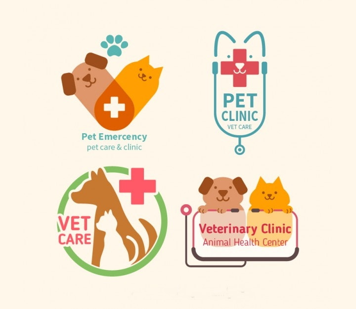 pet-clinic-flat-logo-pack
