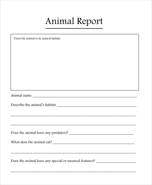 Best Animal Report Template Pictures  Best Resume Examples By