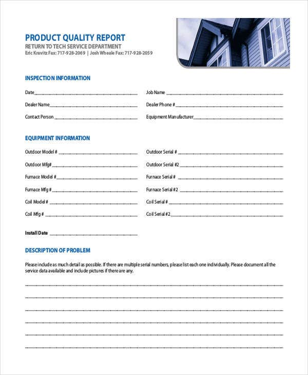 13  sample quality report templates in word  pdf  apple pages