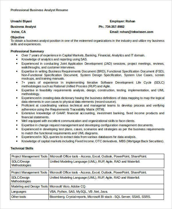 business analyst resume sles pdf 28 images sle