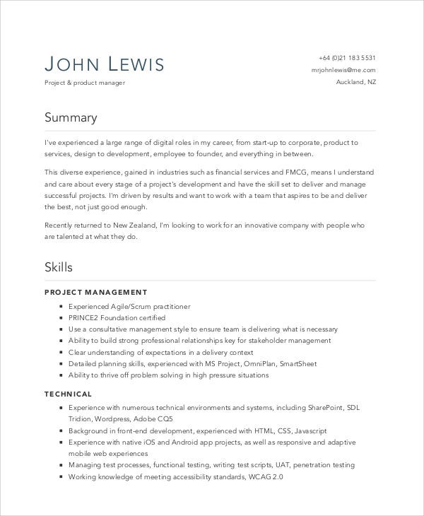 7 Digital Curriculum Vitae Sample Example Free Premium Templates