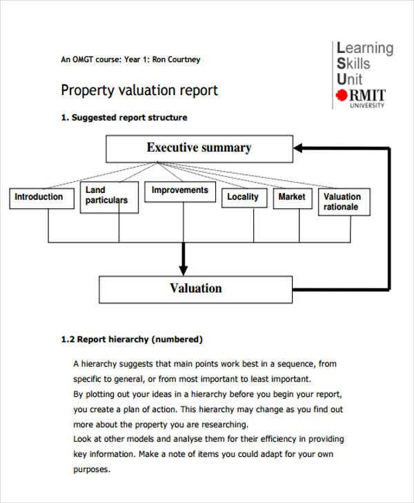 Valuation Report Templates - 9+ Free Word, Pdf Format Download