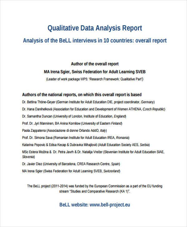 8+ Research Report Templates - Free Word, Pdf Format Download