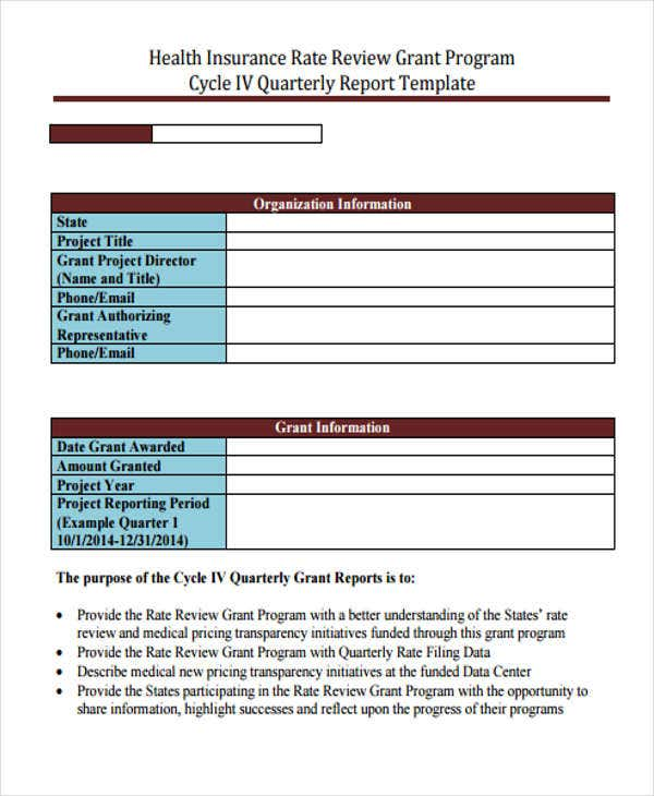 6+ Grant Report Templates - Free Word, Pdf Format Download | Free