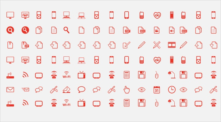 red-outline-web-icons