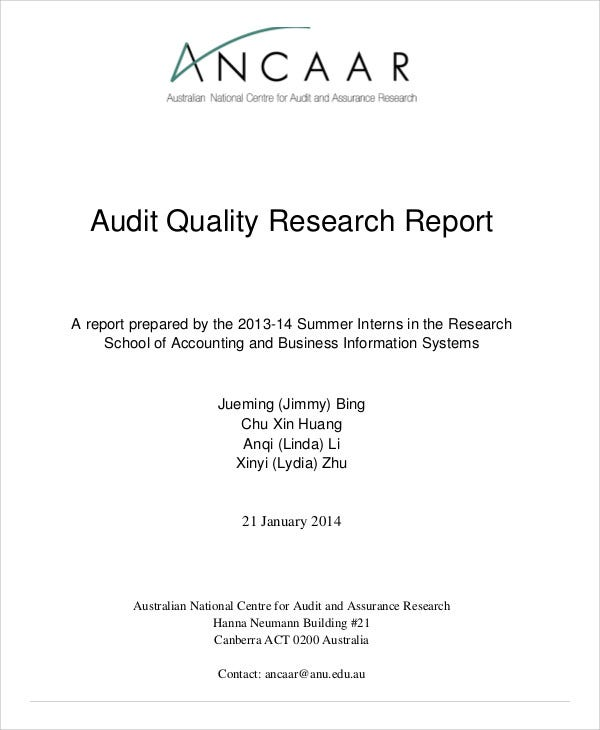 research audit