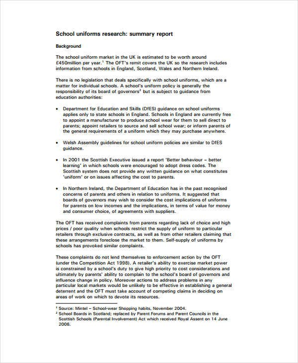 research synopsis template - 8 research report templates free word pdf format
