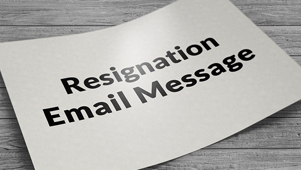 resignationemailmessage