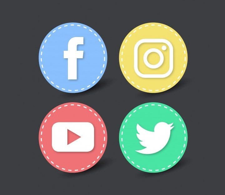 round-social-network-icons