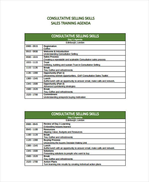 Sales Agenda