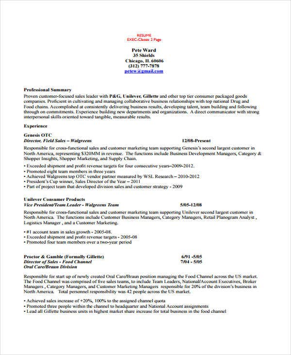 Sales Account Manager Resume Template