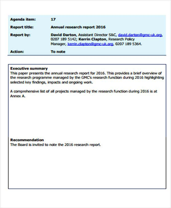 Research Report Formats  Free Sample Example Format Download