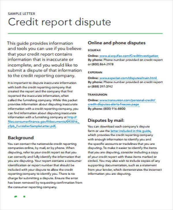 9+ Sample Credit Report - Free Samples, Examples Format Download