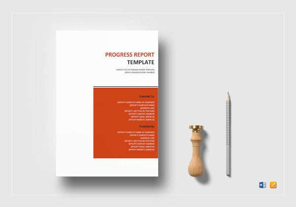 sample progress report template1