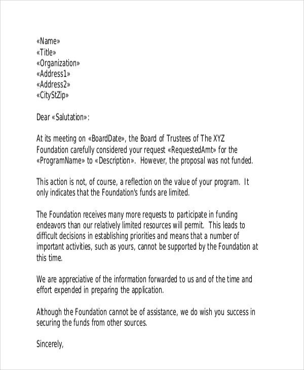 36  rejection letter pdf