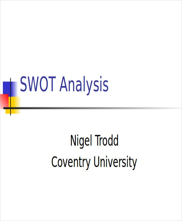 sample swot analysis powerpoint