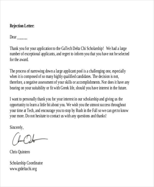 scholarship rejection letter1