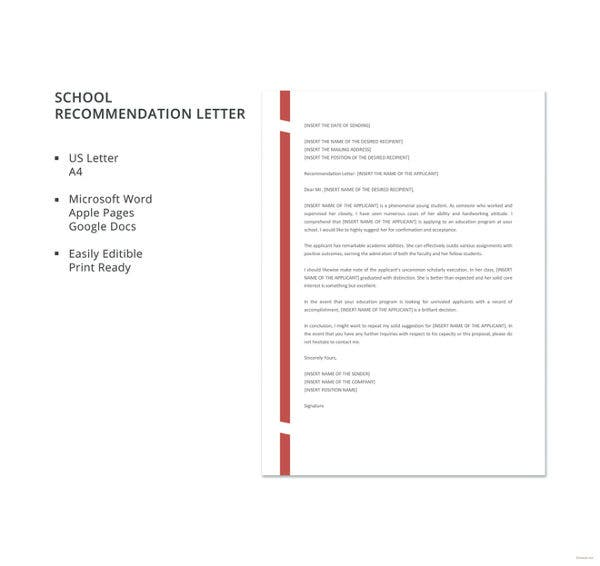 school-recommendation-letter-template