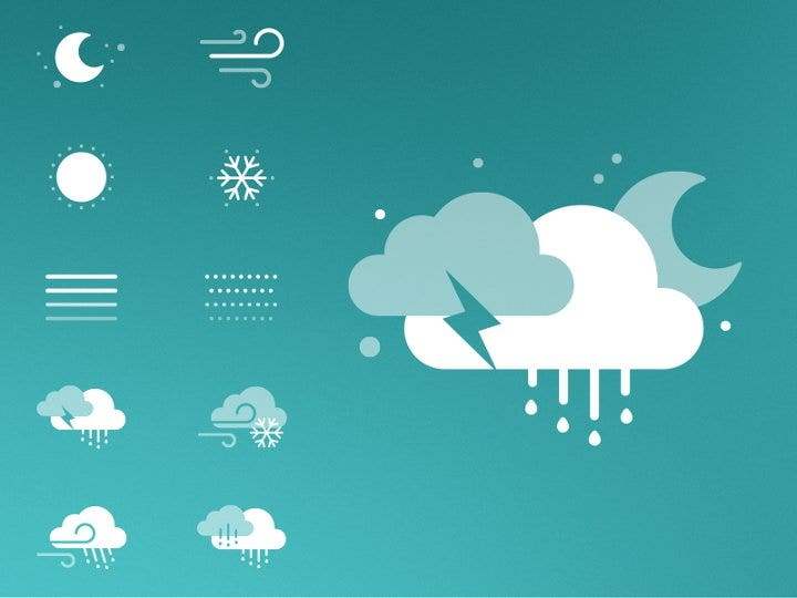seamless weather icon kit1