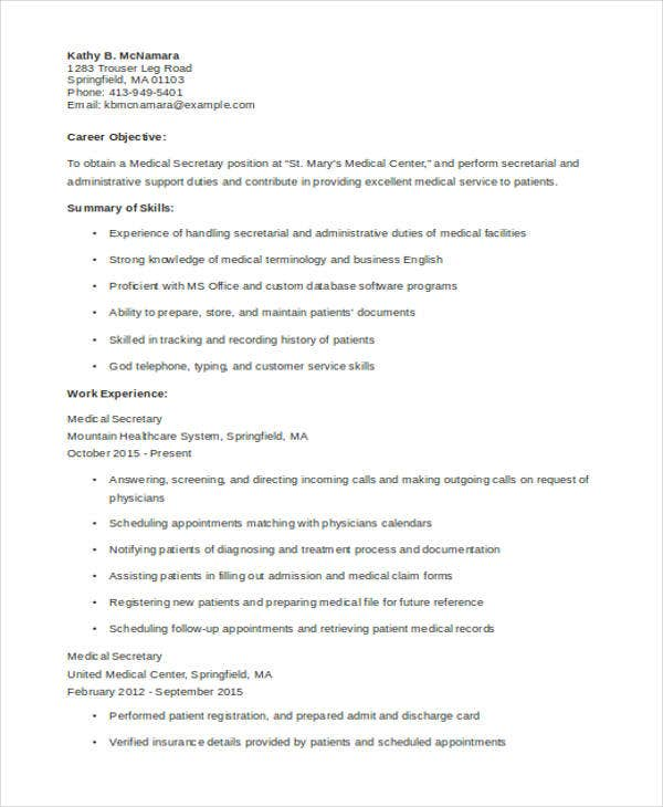 10  sample medical curriculum vitae templates