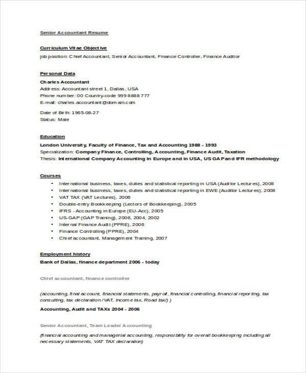 resume creative templates word layout design free download samples accountant format