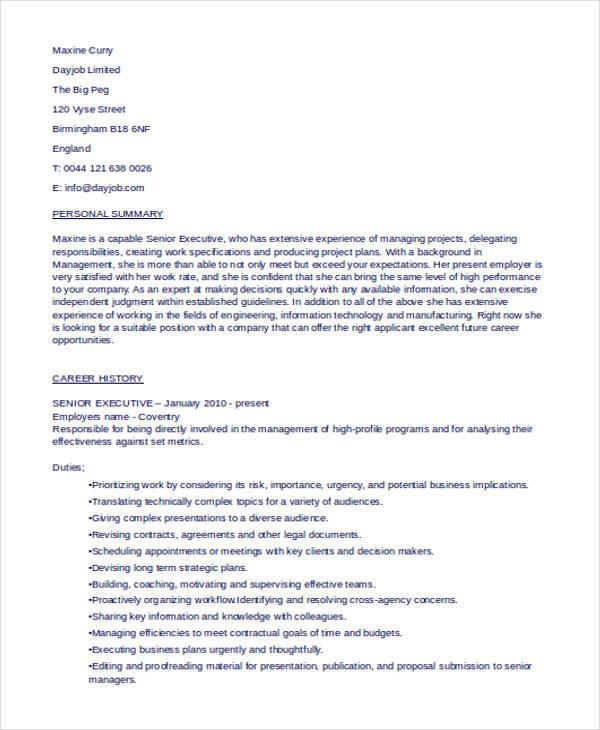 senior executive resume1