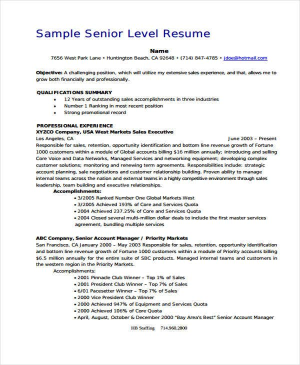 13 Account Manager Resume Templates Samples Examples Format