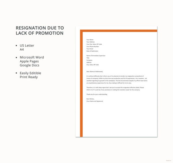 simple-resignation-due-to-lack-of-promotion-letter-template