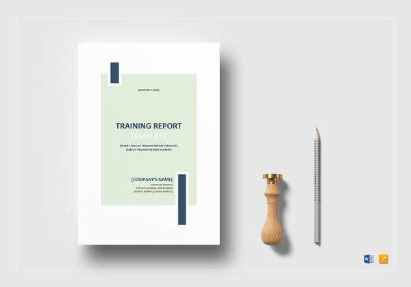 simple-training-report-template