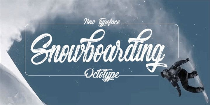 snowboarding-font