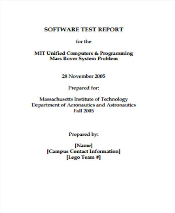 Test Report Templates  Free Sample Example Format Download