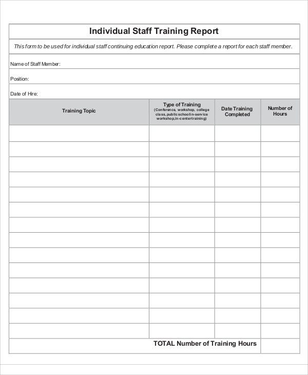 Training Report Templates  Free Sample Example Format