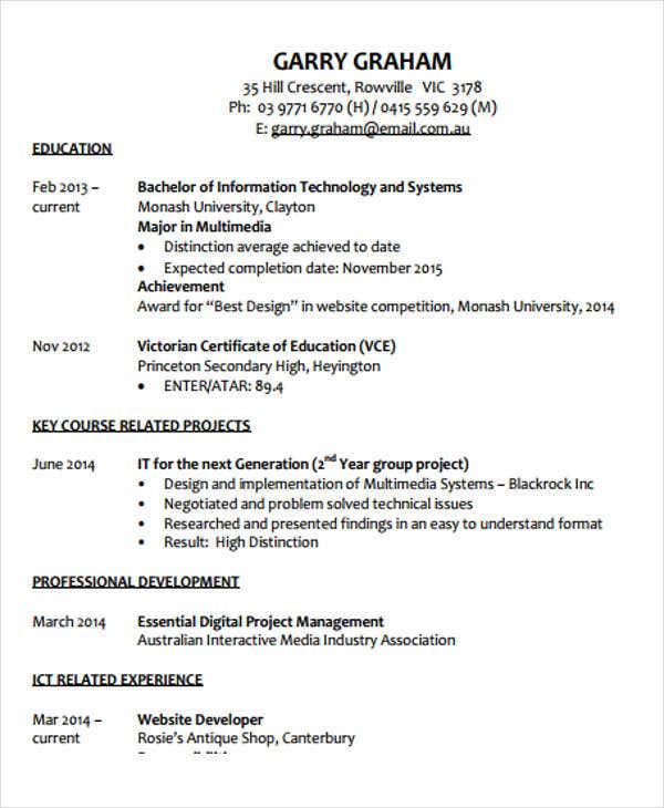 student web developer