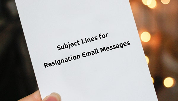 how to create subject lines for resignation email messages