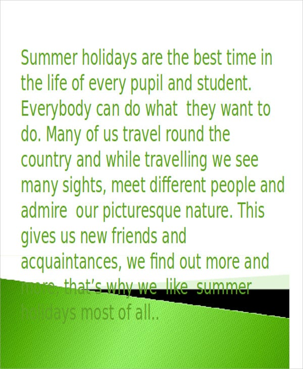 summer holiday powerpoint template