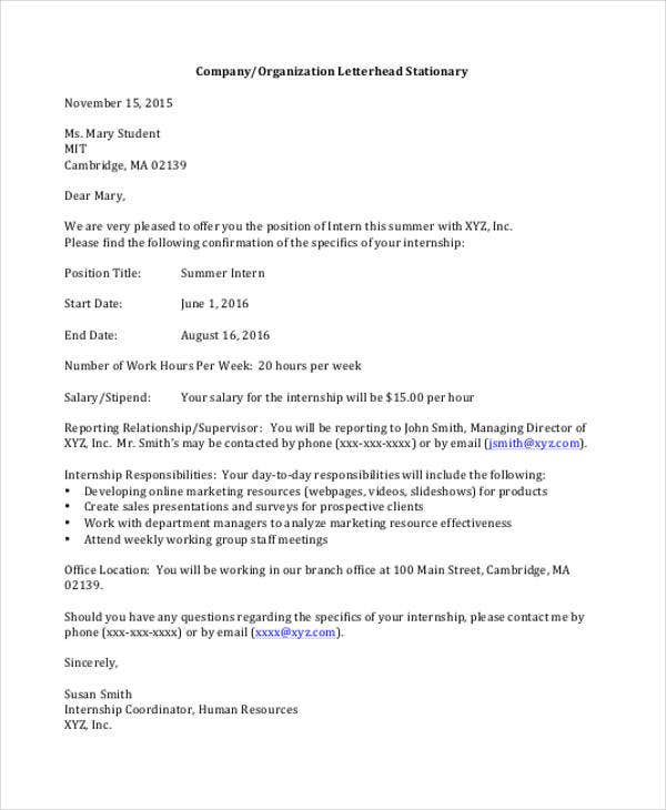25 Job Offer Letter Example Free Premium Templates