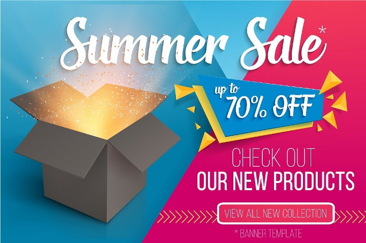 summer sale vector banner
