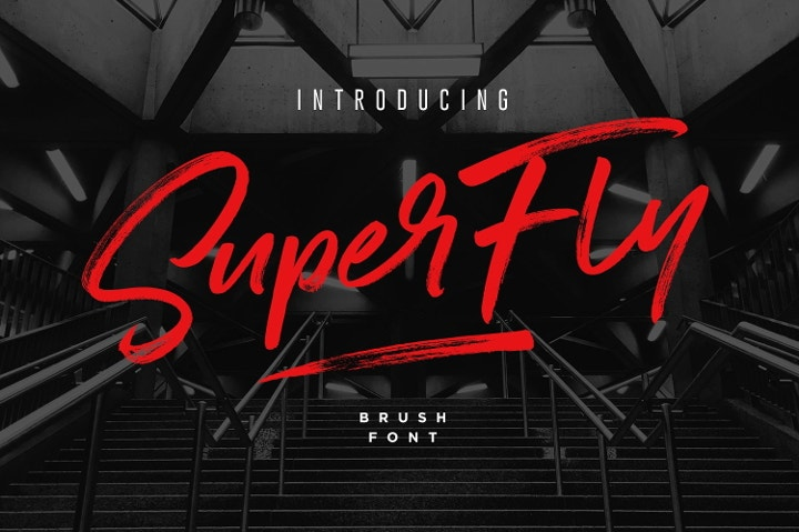 super fly brush font