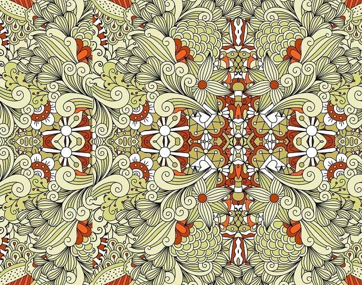 symmetrical-floral-pattern