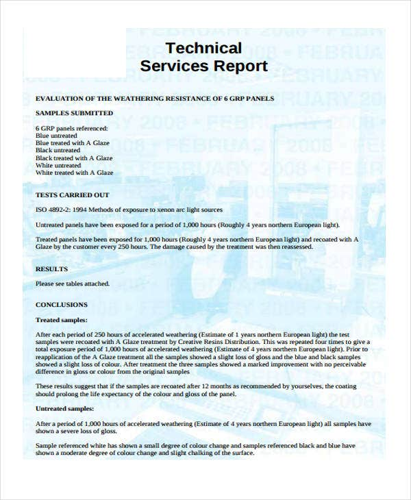 service report sample - Yolar.cinetonic.co