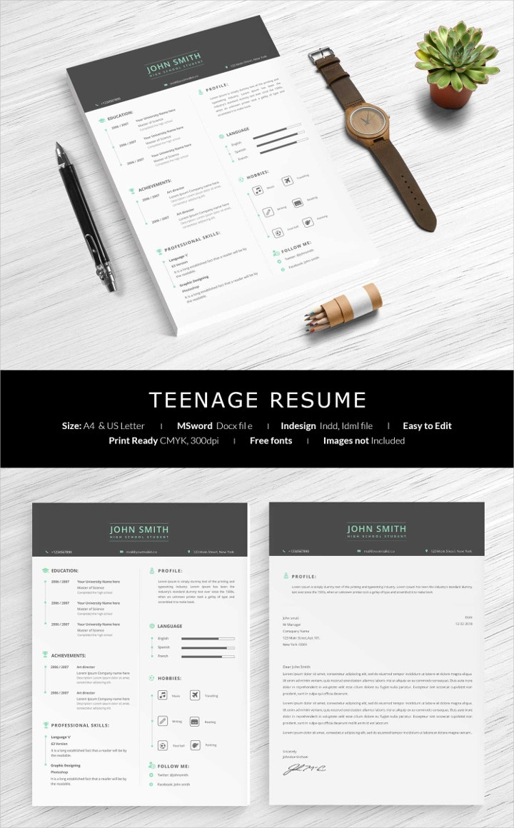 teenage-resume