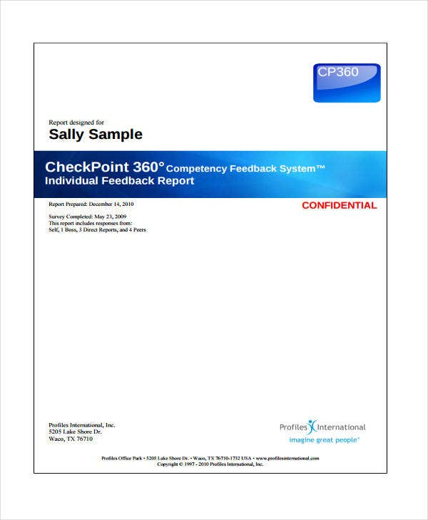 14+ Feedback Report Templates -Word, PDF | Free & Premium Templates
